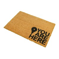 Artsy Doormats You Are Here Door Mat