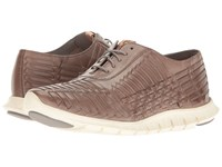 Cole Haan Zerogrand Huarache Oxford Ironstone Leather Women's Lace Up Casual Shoes Brown