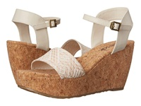 The Sak Solo Straw White Natural Women's Wedge Shoes
