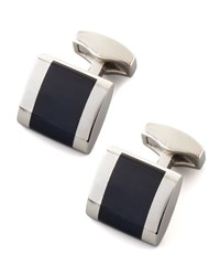 Freeway Fiber Optic Cuff Links Black Tateossian
