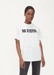 Yang Li 'S Short Sleeve No System T Shirt In White Size Xs 100 Cotton