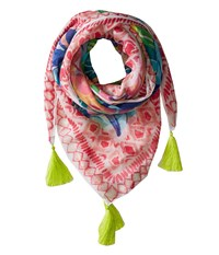 Lilly Pulitzer On The Square Scarf Multi Exotic Garden Scarves
