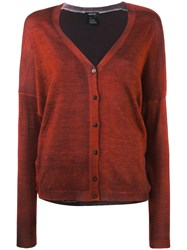 Avant Toi Printed Cardigan Women Silk Cashmere One Size Red