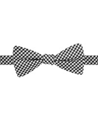 Countess Mara Gingham Pre Tied Bow Tie Black And White