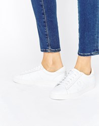 Fred Perry White Spencer Leather Trainers White White Unisex