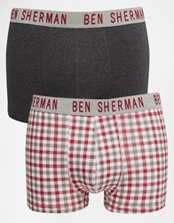 Ben Sherman 2 Pack Boxers Red