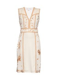 Diane Von Furstenberg Tyche Dress White Gold