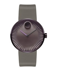 Movado 40Mm Edge Watch With Silicone Strap Purple Coffee