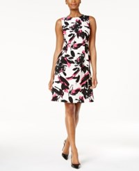 Kasper Fit And Flare Dress Pink Perfection