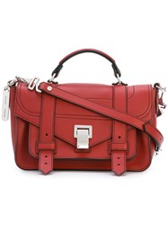 Proenza Schouler Ps1 Satchel Women Leather One Size Red