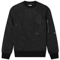 Wooyoungmi Back Logo Tactical Crew Sweat Black