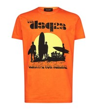 Dsquared2 Waiting For Summer Printed T Shirt Male Orange
