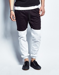 Publish Two Tone Joggers In Black White