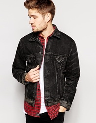 Denim And Supply Ralph Lauren Denim Jacket With Faux Shearling Lining Black