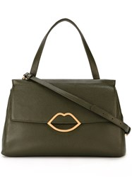 Lulu Guinness Large 'Gertie' Tote Green