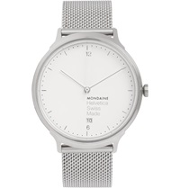 Mondaine Helvetica No1 Light Stainless Steel Watch Silver