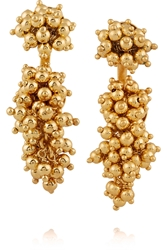 Paula Mendoza Two Grapes Two Mulberries Gold Plated Earrings