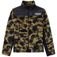 A Bathing Ape 1St Camo Boa Jacket Green