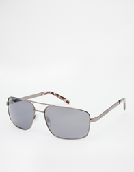 French Connection Aviator Sunglasses Silver