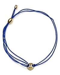 Alex And Ani Kindred Cord Peace Sign Bracelet Charity By Design Collection Blue