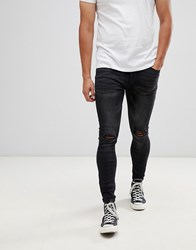Kings Will Dream Super Skinny Jeans In Black With Distressing