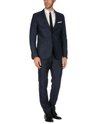 Daniele Alessandrini Grey Suits Dark Blue