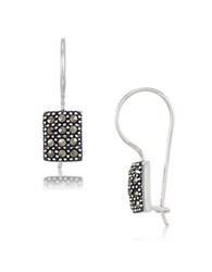 Lord And Taylor Sterling Silver Square Drop Earrings