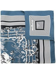 Dolce And Gabbana Western Print Scarf Blue