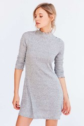 Kimchi And Blue Lettuce Edge Mock Neck Mini Dress Grey