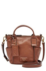 Fossil 'Micro Emerson' Satchel Brown