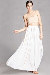 Forever 21 Z And L Europe Maxi Skirt Natural Multi