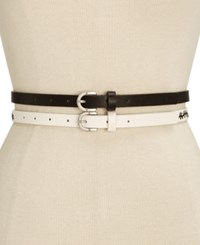 Inc International Concepts Embroidered 2 For 1 Belt Only At Macy's Black White