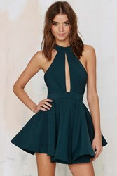 Nasty Gal Shanghai Surprise Cutout Dress Green