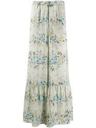 Red Valentino Floral Print Flared Palazzo Trousers 60