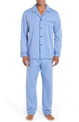 Majestic International Men's Cotton Blend Pajamas Blue