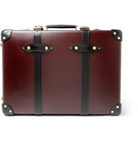 Globe Trotter Centenary 20 Leather Trimmed Carry On Suitcase Burgundy