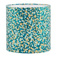 Clarissa Hulse Garland Lamp Shade Kingfisher Peacock Duck Egg Gold Blue