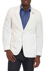 Robert Graham Men's Big And Tall Castroville Classic Fit Sport Coat White
