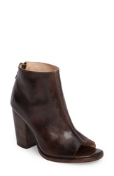 Bed Stu Women's 'Onset' Peep Toe Bootie Testa Di Moro Rustic Leather