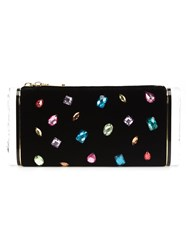 Edie Parker Jewel Embellished Clutch Black
