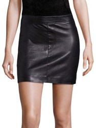 Helmut Lang Stretch Leather Mini Skirt