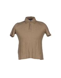 Cruciani Polo Shirts Light Brown