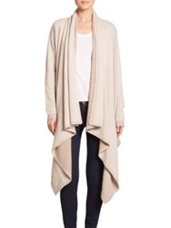 Alice Olivia Wool Cashmere Waterfall Cardigan Oatmeal
