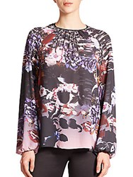 Clover Canyon Poetic Petals Crepe Blouse Multicolor