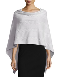 Minnie Rose Cashmere Cable Knit Poncho Concrete