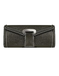 Buti Black Embossed Leather Envelope Clutch