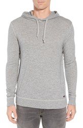 Faherty Slub Cotton Hoodie Heather Grey