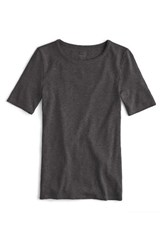 J.Crew Women's New Perfect Fit T Shirt Heather Charcoal