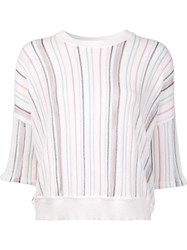 Adam By Adam Lippes Cropped Short Sleeve Jumper White