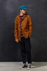 Cpo Coated Canvas Parka Jacket Brown